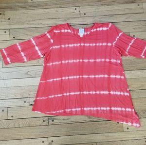 Dress Barn tie dye casual tunic, size 1X